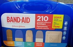 BAND AID 210 ASSORTED ADHESIVE BANDAGES