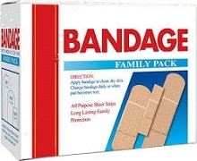 FAMILY PACK PLASTERS 40 ASSORTED (6)