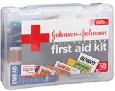 JOHNSON & JOHNSON FIRST AID KIT 125 ITEMS