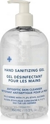 HAND SANITIZER GEL (WITH PUMP) MADE IN CANADA 450ml (SINGLE BOTTLE)