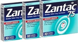 ZANTAC ACID INDIGESTION 75mg x 10 TABLETS (6)