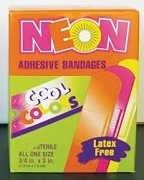 NEON BAND AID 25 ASSORTED (6)