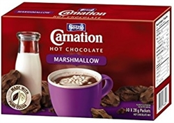 CARNATION MARSHMALLOW HOT CHOCOLATE BOX (10 SACHETS)