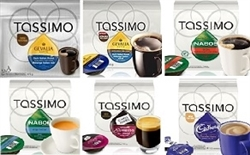 TASSIMO COFFEES, TEAS AND HOT CHOCOLATE