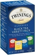 TWININGS TEA VARIETY PACK 20 BAGS / BOX