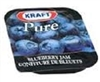 KRAFT PURE BLUEBERRY JAM 140 SINGLES