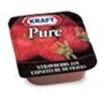 KRAFT PURE STRAWBERRY JAM SINGLES (140)