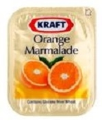 KRAFT ORANGE MARMELADE SINGLES (140)