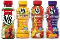 V8 JUICE 4 FLAVOURS 12 x 354ml BOTTLES / CASE