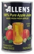 ALLENS APPLE JUICE SINGLE CAN 1.05L