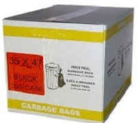 GARBAGE BAGS 35 x 47 REGULAR BLACK & CLEAR