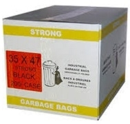 GARBAGE BAGS 35 x 47 STRONG BLACK & CLEAR