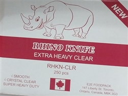 RHINO HEAVY STRONG CLEAR PLASTIC CUTLERY (250)