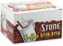 "'STONE' STIR STICKS 4 1/2"" or 6"" PLASTIC"