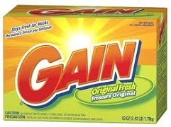 GAIN LAUNDRY DETERGENT POWDER 1 x 1.6 k BOX