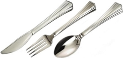 REFLECTIONS CUTLERY SILVER PLASTIC 8 SETS (24)