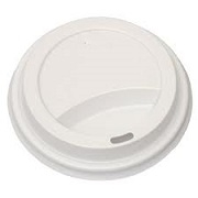 "LIDS 10oz WHITE DOMED ""DART"" (for foam cups) WITH HOLE (1000)"