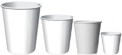 CUPS WHITE PAPER HOT/COLD ALL SIZES (1000)