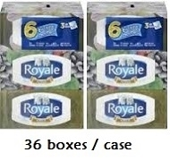 ROYAL 3 PLY TISSUES 36 BOXES / CASE.