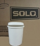 BOWL WITH FIRM LID FOR TAKEAWAY 12oz or 16oz WHITE PAPER HOT (250)