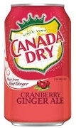 CANADA DRY CRANBERRY GINGER ALE. (12)