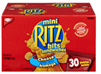 "RITZ BITS ""MINI"" CHEESE SANDWICH 30 x 42g PACKS"