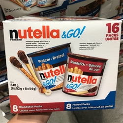 NUTELLA & GO 16 x 52g MIXED SINGLES