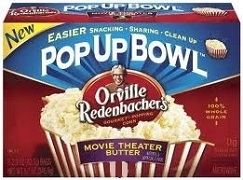 ORVILLE REDENBACHER POP UP BOWL POPCORN 20 BAGS