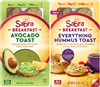 SABRA BREAKFAST HUMMUS OR AVOCADO WITH MINI TOASTS 8 PACKS / BOX