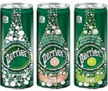 PERRIER SPARKLING WATER 30 SLIM CANS (35 CANS ORIGINAL)