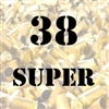 38 Super once fired brass cases for reloading