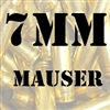 7mm Mauser once fired brass cases for reloading