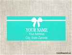 Address Label - Tiffany Bow (background color can be changed)