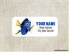 Finding Nemo Dory address labels birthday party