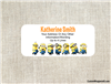 Despicable Me Minions address labels birthday party