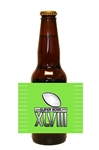 Super Bowl Beer Bottle Label - Light Green