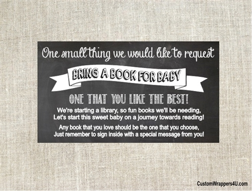 Baby Shower Book Request Card Chalkboard