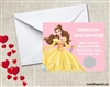 Beauty and the Beast Belle Valentine's Day Cards