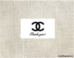 Chanel favor gift tag