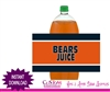 Chicago Bears soda bottle label instant download