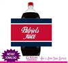 New England Patriots soda bottle label instant download