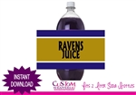 Baltimore Ravens soda bottle label football party instant download