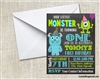 Little monsters inc birthday invitation