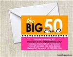 The Big 50 Birthday Party Invitation