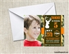 Deer Hunting Camo birthday party invitation with photo