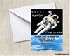 astronaut outer space invitation