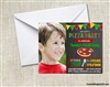 Pizza party invitation with photo