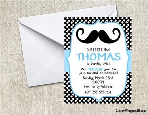 Birthday Invitation Mustache