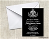 Sweet Sixteen / Quinceanera Birthday Invitation - Chandelier