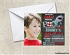 Pool Shark Party invitation with photo
